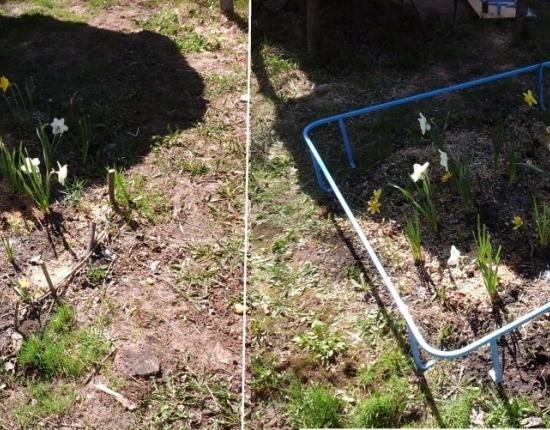 Сборное садовое ограждение для цветов и грядок